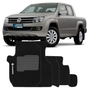 Tapete Carpete Perso Flash Amarok 5 Pçs Preto