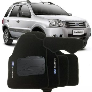 Tapete carpete Perso Flash Ecosport 04 12 5 Pçs Grafite