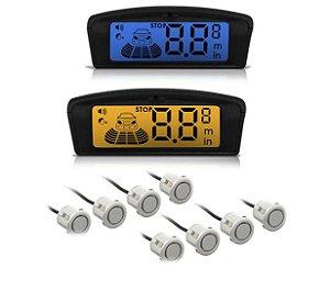 Sensor Re Estacionamento 2508 8 Pontos Prata