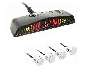 Sensor Re Estacionamento modelo 6104 4 Pontos Branco