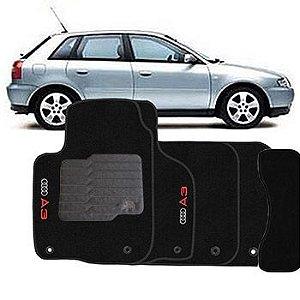 Jogo Tapete Carpete Mult aplicação Audi A3 07 17 5Pçs Preto