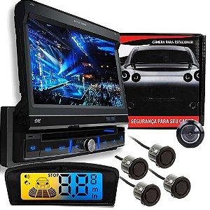 Dvd Pósitron SP6300 + Câmera + Sensor Ré 4 Sensores Preto