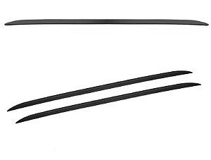 Rack Teto Longarina Universal Curvo Decorativa Preto 160cm