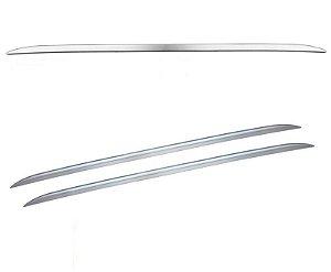 Rack Teto Longarina Universal Curvo Decorativa Prata 160cm