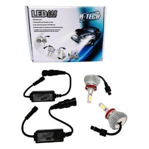 Kit Lampada Super Led H1 6000k 32w 2200 Lum 12V 24V Htech
