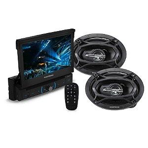 Kit Pósitron DVD SP6320 com Tela 7 + Par alto-falantes 6x9