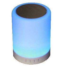 Caixa Acústica Bluetooth, 3w, Tipo Luminária Led Multicolor