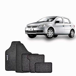 Jogo Tapete Carpete VW GOL G6 2012 a 2016 Preto 5 pçs