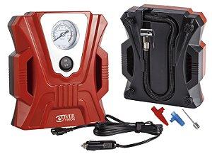 Mini Compressor de Ar Automotivo 12V - Vermelho