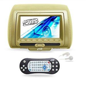 Encosto de Cabeça Monitor 7 Polegadas Leitor de DVD - Bege