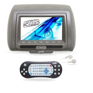 Encosto de Cabeça Monitor 7 Polegadas Leitor de DVD - Cinza