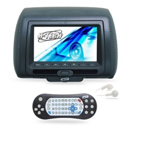 Encosto de Cabeça Monitor 7 Polegadas Leitor de DVD - Grafite