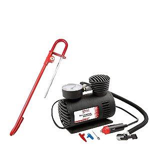 Compressor de Ar Auto 250PSi + Trava Volante Pedal e Algema