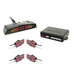 Sensor De Ré Original 18.5mm c/ Conector Display Led Preto