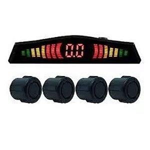 Sensor De Estacionamento 04 Pontos Preto