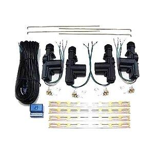 Kit Trava Elétrica Universal 04 Portas Dupla Serventia
