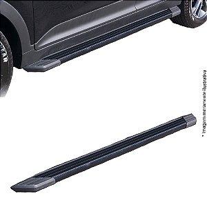 Estribo Bepo Duster Alumínio Preto SUV II Com Fixação