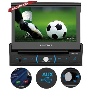 "DVD Automotivo Pósitron SP6730 7"" Espelhamento e Bluetooth"
