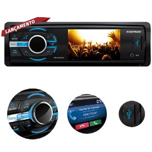 DVD Automotivo Pósitron SP4340 Tela 3 Polegadas Bluetooth