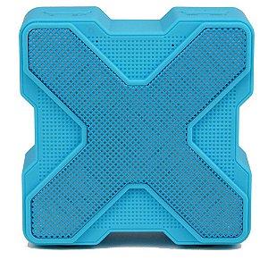 Caixa Acústica Bluetooth V1 LED Colorido - Azul