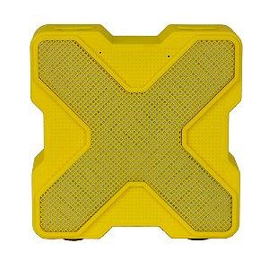 Caixa Acústica Bluetooth V1 LED Colorido - Amarela