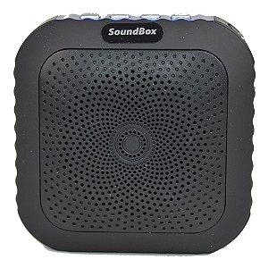 Caixa Acústica Bluetooth V4 Portátil com mosquetão - Preto