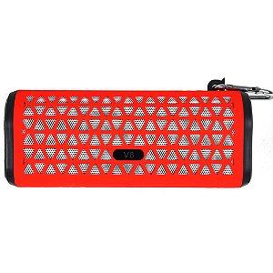 Caixa De Som Bluetooth V6 Portátil - Vermelho