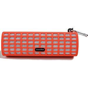 Caixa de Som Bluetooth V7 com Mosquetão - Vermelho