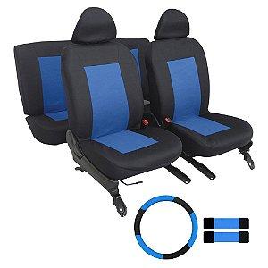 Kit Capa Banco Volante e Protetor de Cinto Universal - Azul
