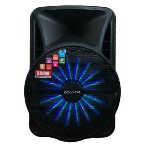 Caixa de Som Amplificada Bluetooth 500W Woofer e Tweeter