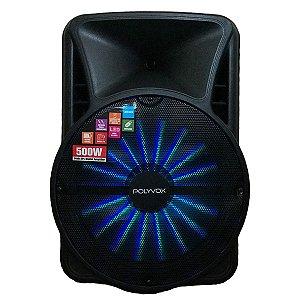 Caixa De Som Amplificada Polyvox Bluetooth Usb 500w Bivolt