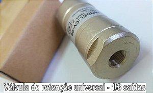 Válvula de retenção universal 1/8 saídas
