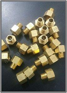 Niple para filtro ar - direto no cilindros ou compressores - roscas de 1/8 X 1/4 femea