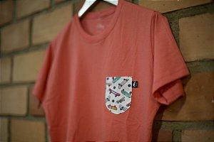Camiseta Gio Rosa Salmão