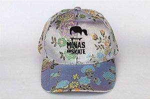 Boné Cetim Florido SnapBack MNS