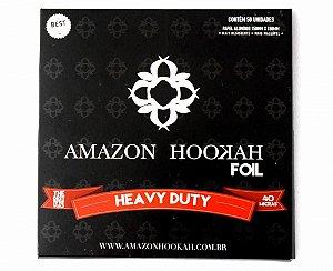 PAPEL ALUMÍNIO AMAZON HOOKAH FOIL HEAVY DUTY 50 FOLHAS