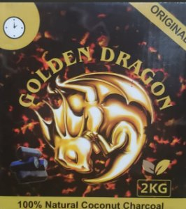 CARVÃO GOLDEN DRAGON HEXAGONAL 2KG
