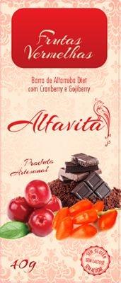 Barra de Alfarroba Diet com Granberry e Gojiberry - Caixa com 20 unidades de 40g