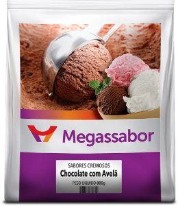CHOCOLATE COM AVELÃ 50G/L 800GR