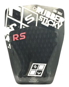 DECK PARA PRANCHA DE SURF RUBBER STICKY SWALLOW PRETO