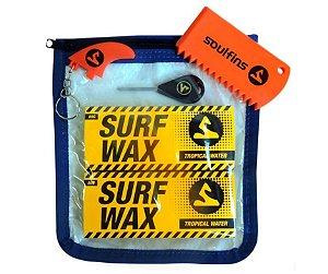 KIT SURF TROPICAL WAX - ÁGUA QUENTE