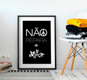 Quadro Decorativo Poster Bagunça - Frase, Casa, Criativa, Minimalista