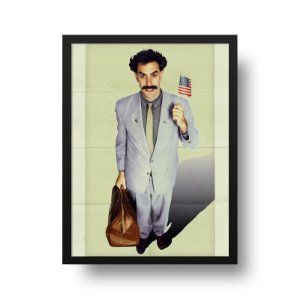 Quadro Decorativo Poster Cinema Alternativo Filme Borat