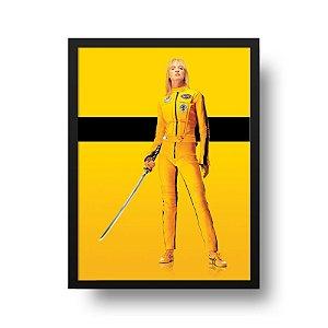 Quadro Decorativo Poster Cinema Filme Kill Bill - Tarantino, Uma Thurman