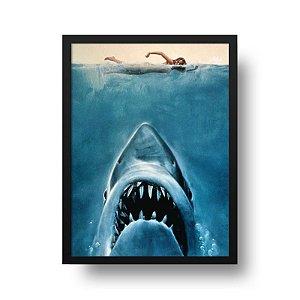 Quadro Decorativo Poster Cinema Filme Tubarão