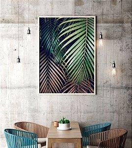 Quadro Decorativo Poster Fotografia Folhas de Palmeira - Natureza, Verde, Tropical