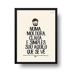 Quadro Decorativo Poster Frase Música Los Hermanos Retrato Pra Iaiá