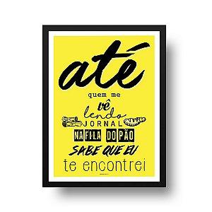 Quadro Decorativo Poster Frase Música Los Hermanos Último Romance