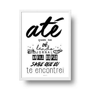 Quadro Decorativo Poster Frase Música Los Hermanos Último Romance - Fundo Branco