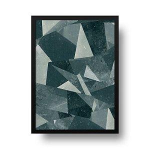 Quadro Decorativo Poster Geométrico Concreto - Triângulos, Abstrato